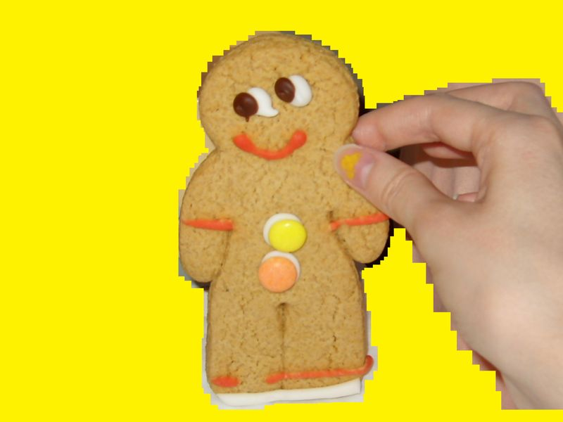 Gingerbread man. Edited in paint.